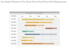 Our Market Research Plan Gantt Chart Powerpoint Slide Backgrounds