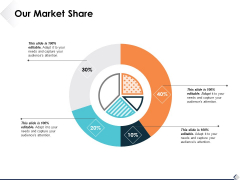 Our Market Share Ppt PowerPoint Presentation Infographics Inspiration