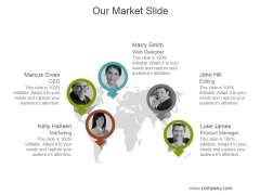 Our Market Slide Ppt PowerPoint Presentation Example