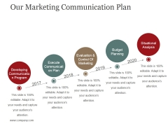Our Marketing Communication Plan Ppt PowerPoint Presentation Ideas Inspiration