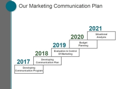 Our Marketing Communication Plan Ppt PowerPoint Presentation Layout