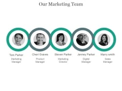 Our Marketing Team Ppt PowerPoint Presentation Ideas
