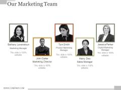 Our Marketing Team Ppt PowerPoint Presentation Slide Download
