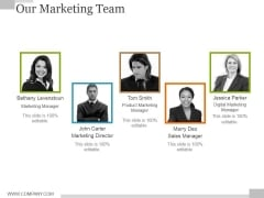 Our Marketing Team Ppt PowerPoint Presentation Summary Format