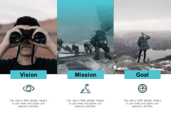Our Mission And Goal Vision Ppt PowerPoint Presentation Layouts Mockup