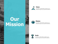 Our Mission And Goal Vision Ppt PowerPoint Presentation Outline Grid