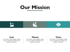 Our Mission And Vision Goal Ppt PowerPoint Presentation Icon Pictures
