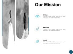 Our Mission And Vision Goal Ppt PowerPoint Presentation Infographic Template Designs