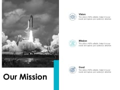 Our Mission And Vision Goal Ppt PowerPoint Presentation Model Gallery