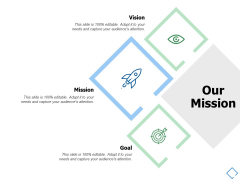 Our Mission And Vision Goal Ppt PowerPoint Presentation Professional Background Images