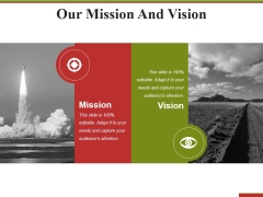 Our Mission And Vision Ppt PowerPoint Presentation Icon Introduction