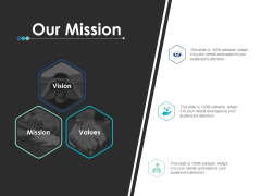 Our Mission And Vision Ppt PowerPoint Presentation Ideas Objects