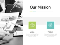 Our Mission And Vision Ppt PowerPoint Presentation Infographic Template Icon