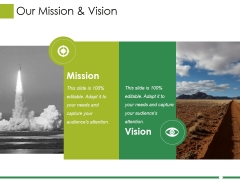 Our Mission And Vision Ppt PowerPoint Presentation Inspiration Styles