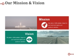 Our Mission And Vision Ppt PowerPoint Presentation Pictures Design Templates