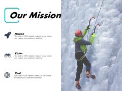 Our Mission Bizbok Business Design Ppt PowerPoint Presentation Show Slideshow