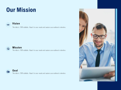 Our Mission Business Marketing Ppt PowerPoint Presentation Inspiration Deck