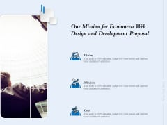 Our Mission For Ecommerce Web Design And Development Proposal Ppt Layouts Example PDF