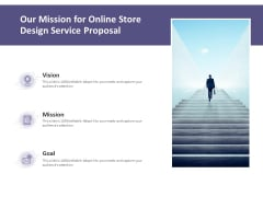 Our Mission For Online Store Design Service Proposal Ppt PowerPoint Presentation Model Backgrounds