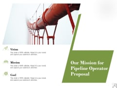 Our Mission For Pipeline Operator Proposal Ppt PowerPoint Presentation Pictures Introduction