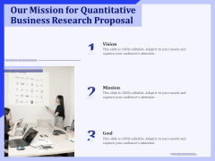 Our Mission For Quantitative Business Research Proposal Ppt PowerPoint Presentation Outline Microsoft PDF