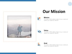Our Mission Goal Ppt PowerPoint Presentation Icon Skills