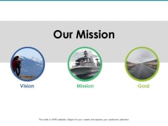 Our Mission Goal Vision Ppt PowerPoint Presentation Infographics Icon