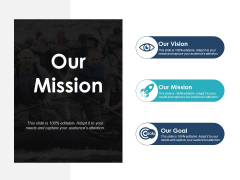 Our Mission Our Vision Our Goal Ppt PowerPoint Presentation Slides