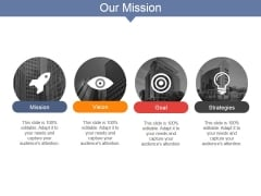 Our Mission Ppt PowerPoint Presentation Icon Influencers
