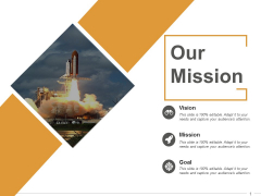 Our Mission Ppt PowerPoint Presentation Ideas Vector
