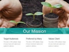 Our Mission Ppt PowerPoint Presentation Model Design Templates