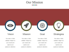 Our Mission Ppt PowerPoint Presentation Model Icon