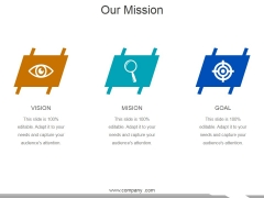 Our Mission Ppt PowerPoint Presentation Pictures Smartart