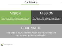 Our Mission Ppt PowerPoint Presentation Professional Objects