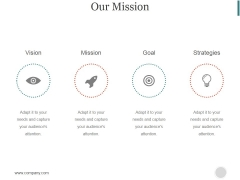 Our Mission Ppt PowerPoint Presentation Professional