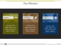 Our Mission Ppt PowerPoint Presentation Show Vector