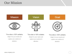 Our Mission Ppt PowerPoint Presentation Slides Icon