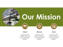 Our Mission Ppt PowerPoint Presentation Slides Professional