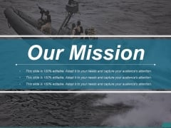 Our Mission Ppt PowerPoint Presentation Slides
