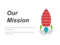 Our Mission Template 1 Ppt PowerPoint Presentation Infographics Designs