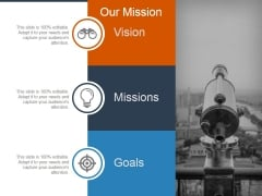 Our Mission Template 1 Ppt PowerPoint Presentation Infographics Templates