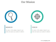 Our Mission Template 1 Ppt PowerPoint Presentation Layout