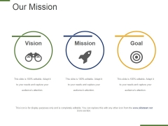 Our Mission Template 2 Ppt PowerPoint Presentation Model Outfit