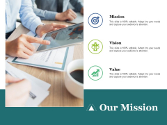 Our Mission Value Vision Ppt PowerPoint Presentation Infographics Structure