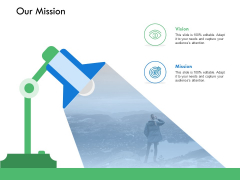 Our Mission Vision Goal Ppt PowerPoint Presentation Gallery Design Ideas