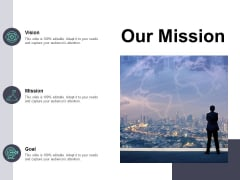 Our Mission Vision Goal Ppt PowerPoint Presentation Gallery Visual Aids