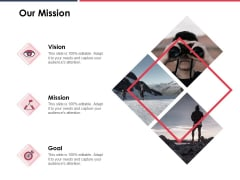 Our Mission Vision Goal Ppt PowerPoint Presentation Icon Design Templates