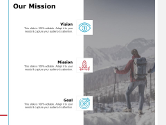 Our Mission Vision Goal Ppt PowerPoint Presentation Ideas Aids
