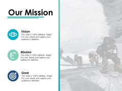 Our Mission Vision Goal Ppt PowerPoint Presentation Ideas Design Inspiration