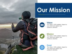 Our Mission Vision Goal Ppt PowerPoint Presentation Ideas Graphics